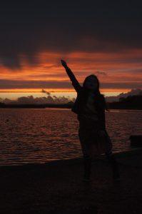 Lough Lannagh sunset salute
